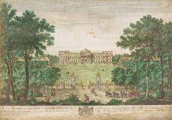 GEORG BALTHASAR PROBST (1673-1748) German Vue de la Maison de Campagne de Scoonenbergh Hand