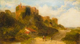 ENGLISH SCHOOL (19th century), Caister Castle, Caister-on-Sea, oil on canvas, unsigned, framed.