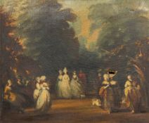 After THOMAS GAINSBOROUGH (1727-1788) British, Gathering of Elegant Figures, oil on canvas,