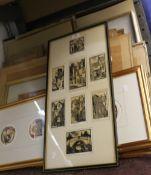 A large quantity of various pictures, prints, etc.