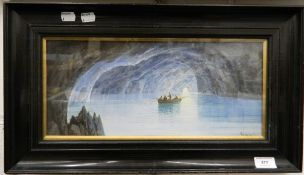 Manner of GIROLAMO GIANNI (1837-1895) Italian, Blue Grotto, watercolour, bears signature,