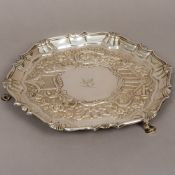 A George II silver salver, hallmarked London 1741, maker's mark of John Carter,