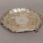 A George II silver salver, hallmarked London 1741, maker's mark of John Carter,