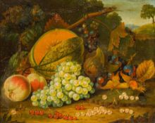 CONTINENTAL SCHOOL (19th century), Still Life of Fruit, oil on board, unsigned, framed. 49 x 39 cm.
