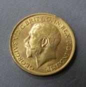 A 1914 gold sovereign