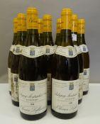 Nine bottles of 1999 Olivier Leflaive Les Referts Puligny Montrachet 1er Cru