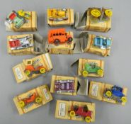 A set of twelve boxed Charbens Miniature Old Timers Series die cast vehicles