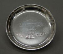 A small silver pin tray. 3.