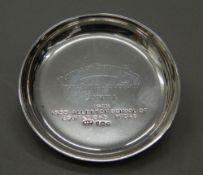 A small silver pin tray. 3.