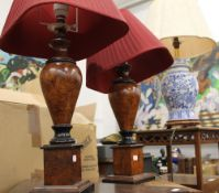 A quantity of table lamps