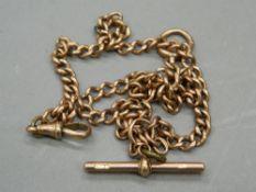 A 9 ct gold Albert chain. 48 cm long (39.
