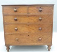 A Victorian mahogany chest of drawers. 108 cm wide.