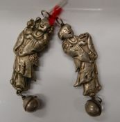 A Chinese rattle. 8 cm long.