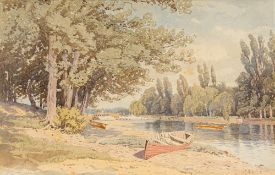 CHARLES HARMONY HARRISON (1842-1902) British, River Scene, watercolour, signed, framed and glazed.