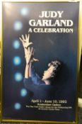 A framed poster for Judy Garland A Celebration, April 1 - June 10 1992, Amsterdam Gallery. 34.