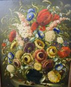 RIMA (19th/20th century), Still Life of Flowers in a Vase, oil on board, signed, framed. 58 x 73 cm.