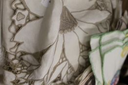A quantity of table linen