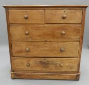A Victorian mahogany chest of drawers. 118 cm wide.