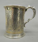 A silver Christening mug. 8.5 cm high (4.