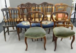 A large quantity of various chairs