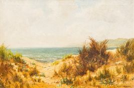 DANIEL SHERRIN (1868-1940) British, Beach Scene, oil on canvas, signed with pseudonym L RICHARDS,