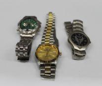 Three gentleman's wristwatches