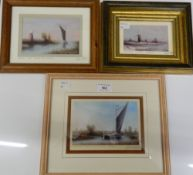 LESLIE LAING, Three Norfolk prints (Halvergate Marshes,