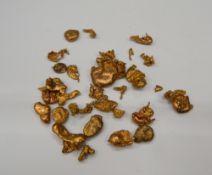 A quantity of metal nuggets
