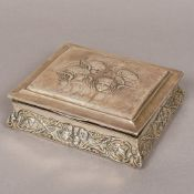 An Edwardian silver jewellery box, hallmarked Birmingham 1906, makers mark indistinct,