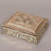 An Edwardian silver jewellery box, hallmarked Birmingham 1906, makers mark indistinct,