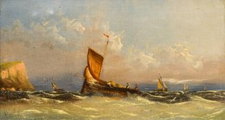 ENGLISH SCHOOL (19th century), Seascapes, oils on canvas,