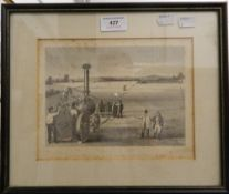 A 19th century framed and glazed etching,