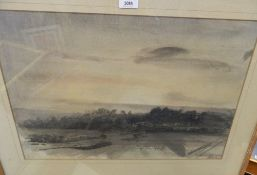 LUCIANO GUARNIERI, Midhurst Landscape, watercolour, framed and glazed. 56 cm wide.
