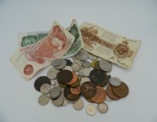 A quantity of miscellaneous coins and notes