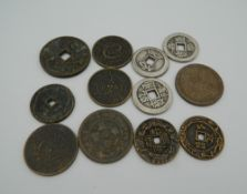 Twelve Chinese coins