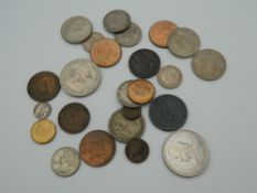 A quantity of coins,