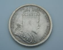 A 1904 Edward VII silver Straits Settlements $1 coin