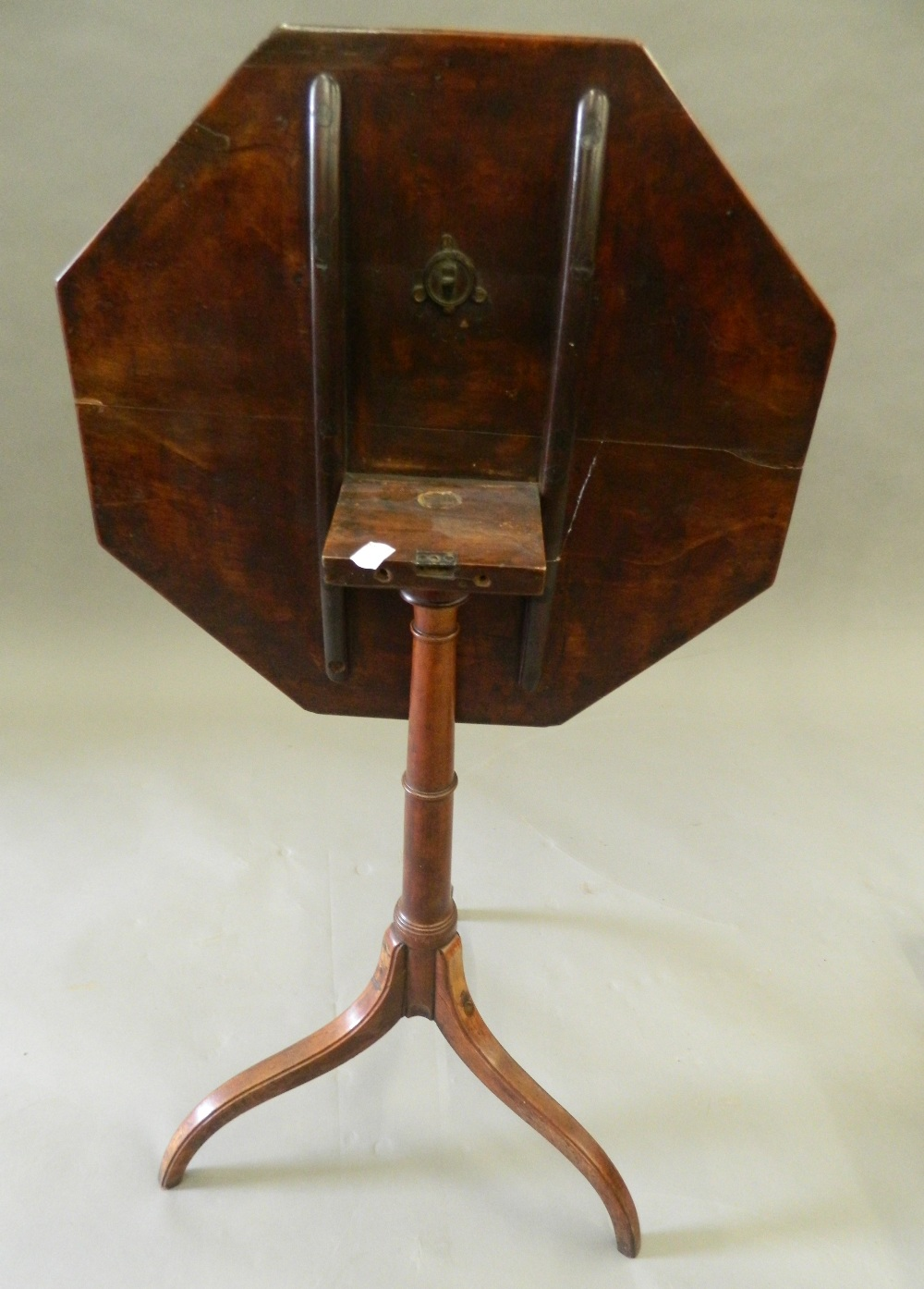 Three mahogany tripod tables. The largest 46.5 cm wide. - Image 5 of 6