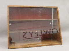Three glazed display cabinets