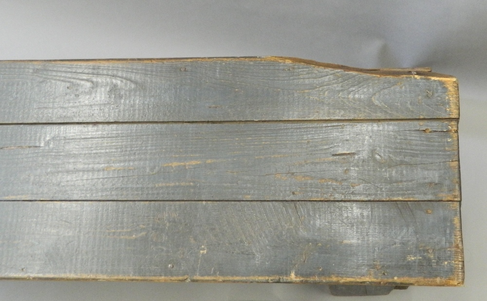 A pair of painted pine benches. 183 cm long. - Image 3 of 3