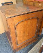 A mahogany pedestal cupboard. 57 cm wide.