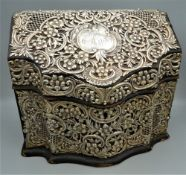A late 19th century American stationery box,