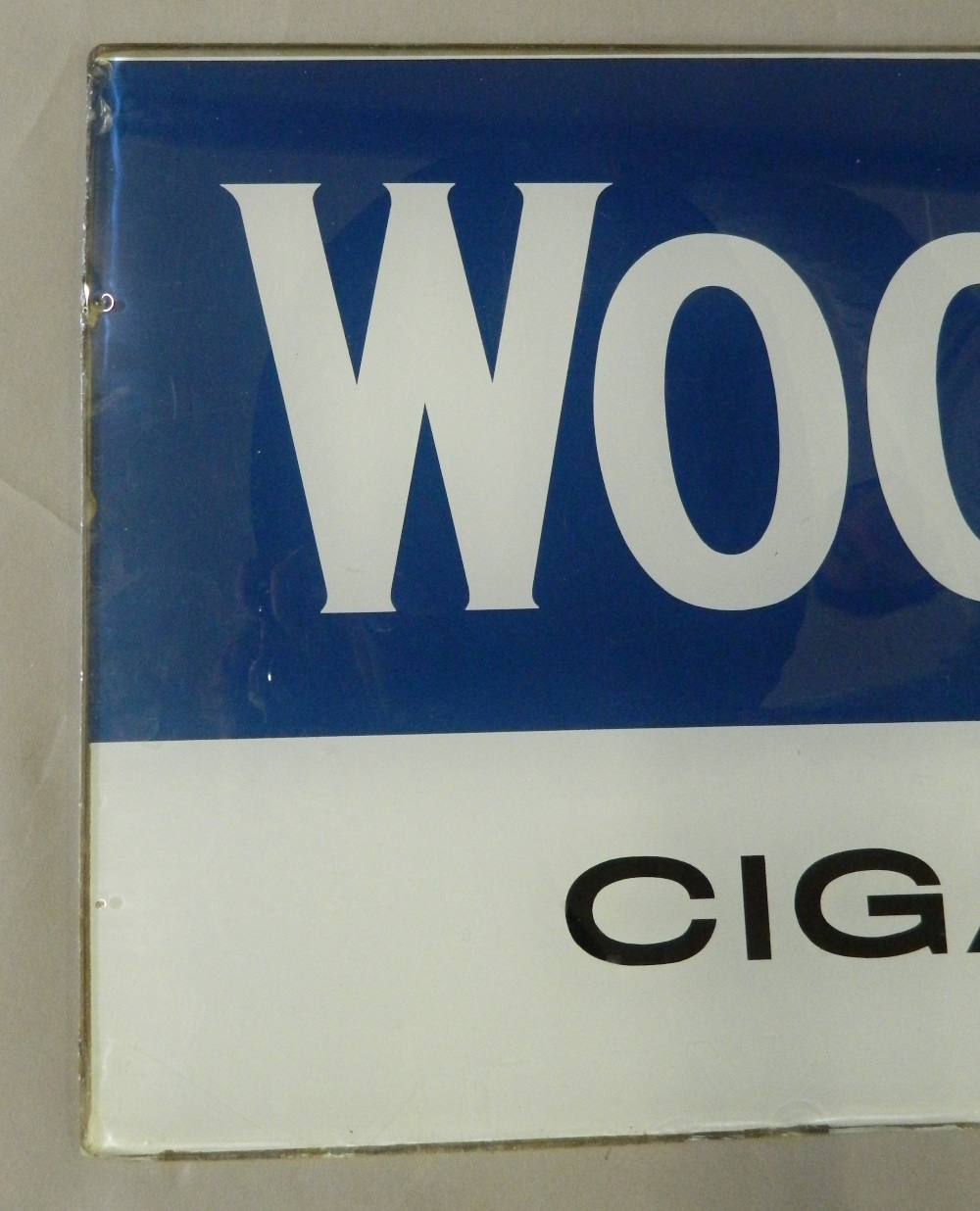 A vintage Woodbines Cigarette glass advertising sign. 92 cm wide. - Image 4 of 6