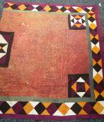 A Victorian/Edwardian patchwork quilt