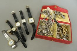 A quantity of jewellery and watches, including gold and silver.