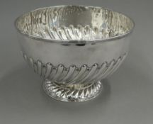 A Victorian silver rose bowl, hallmarked London 1896,