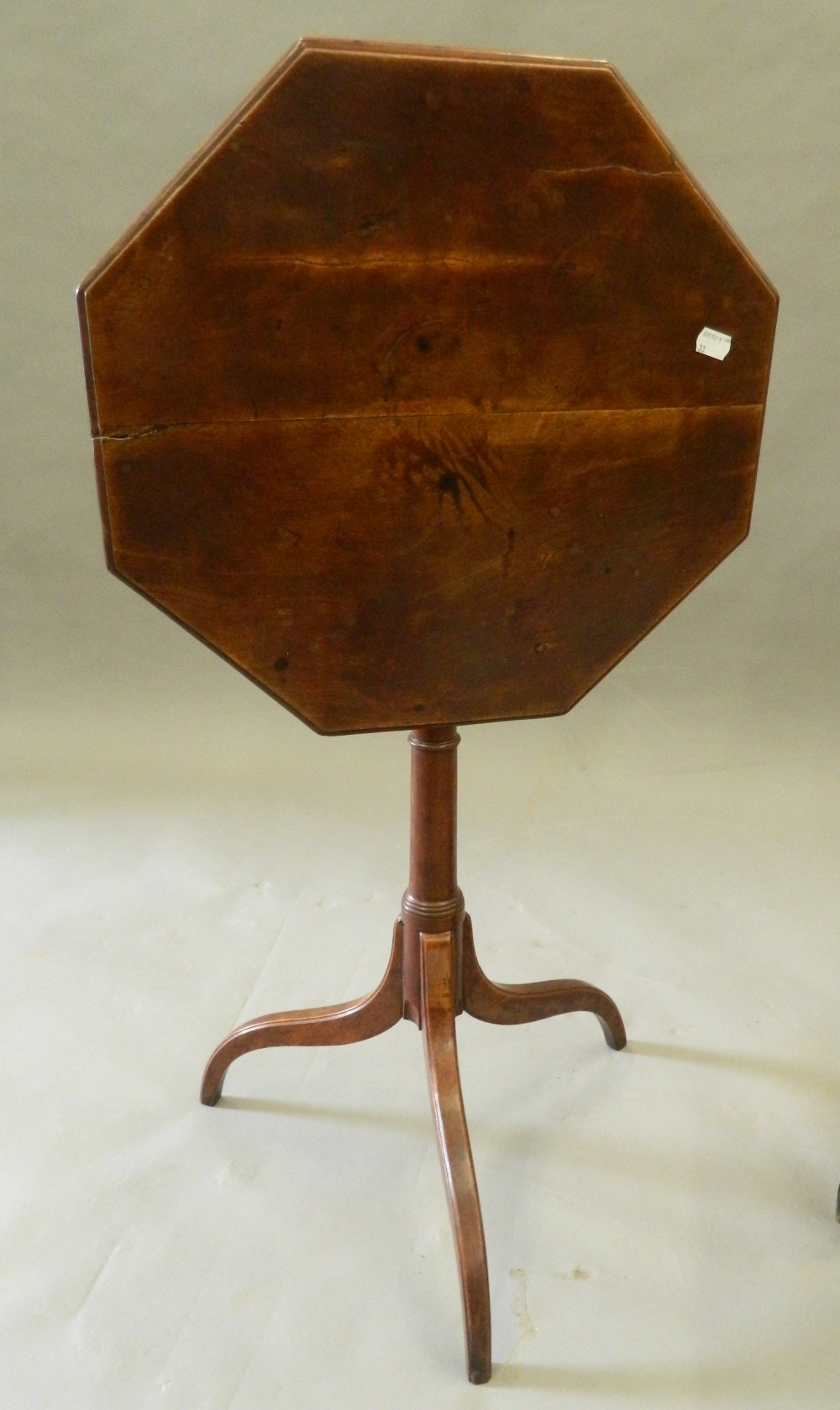 Three mahogany tripod tables. The largest 46.5 cm wide. - Image 2 of 6