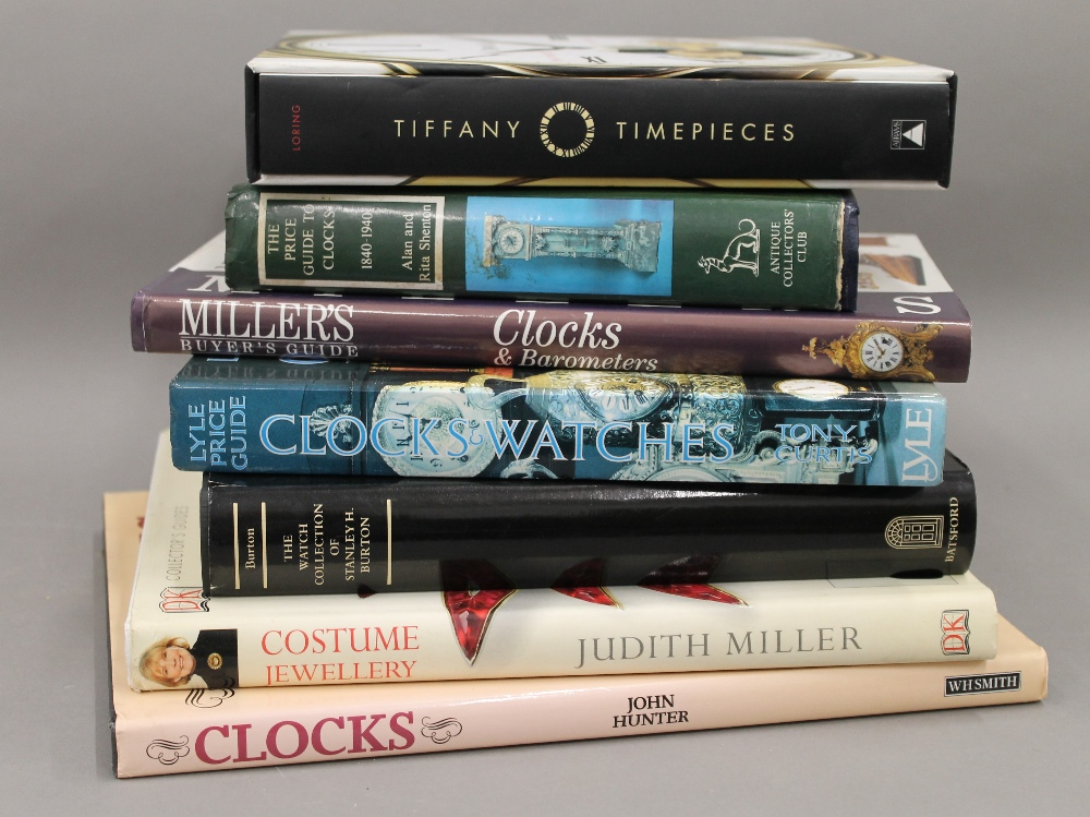 A quantity of clock related reference books