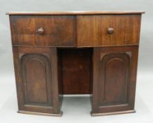 A 19th century mahogany bow front pedestal sideboard. 110 cm wide.