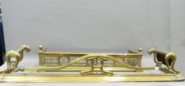 Two brass fenders